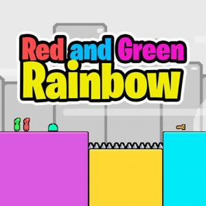 Red and Green Rainbow